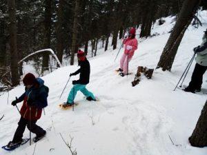 raquetas de nieve familias
