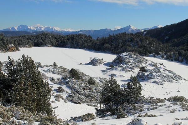 Raquetas de nieve en las Bollosas